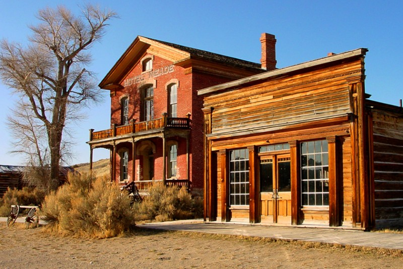Skinner Saloon and Hotel Meade at Bannack State Park