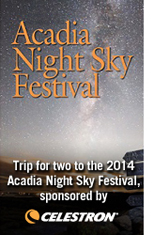 Trip for two to the 2014 Acadia Night Sky Festival, sponsored by Celestron