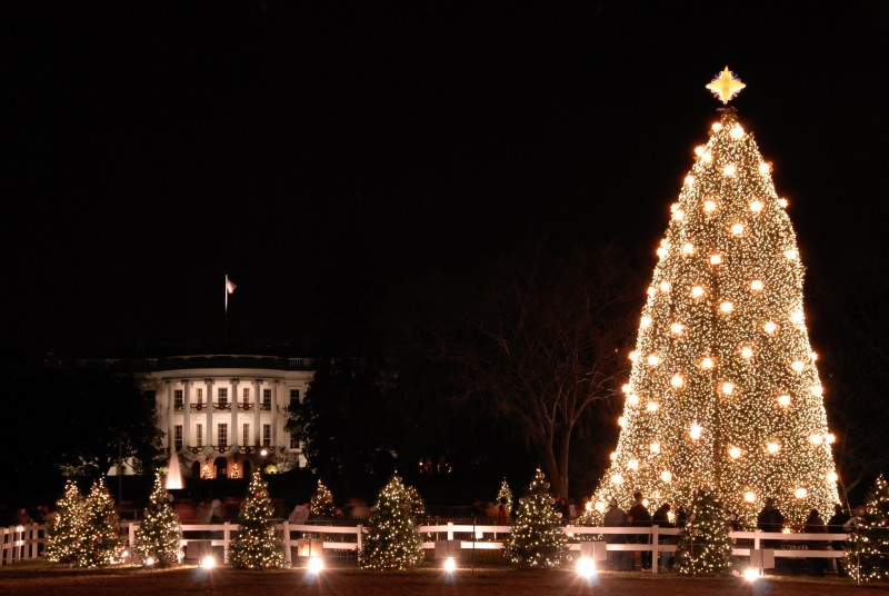The National Christmas Tree Lighting Ceremony will take place in Washington, D.C. on December 6, 2013, at 5 p.m. (EST).