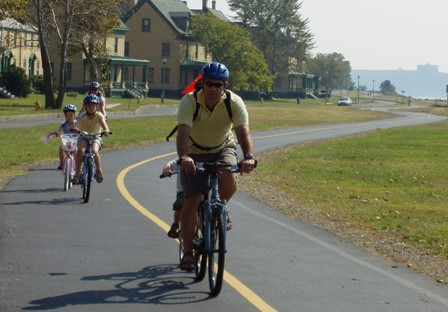 Riding a bicycle along Sandy Hook's seven-mile Multi-Use Path is a great, and green, way to see the park up close. (NPS)