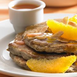 Orange, Almond and Buckwheat pancakes