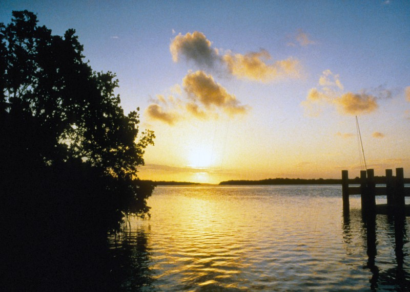 Sunset at Biscayne National Park. Source: nps.gov.