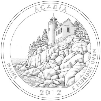 Acadia National Quarter America the Beautiful Quarter