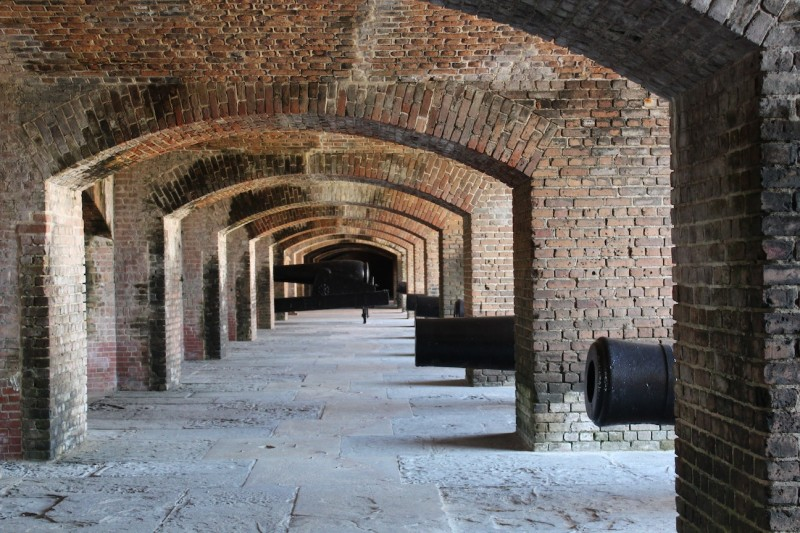 Preserved artillery within Fort Zachary Taylor.