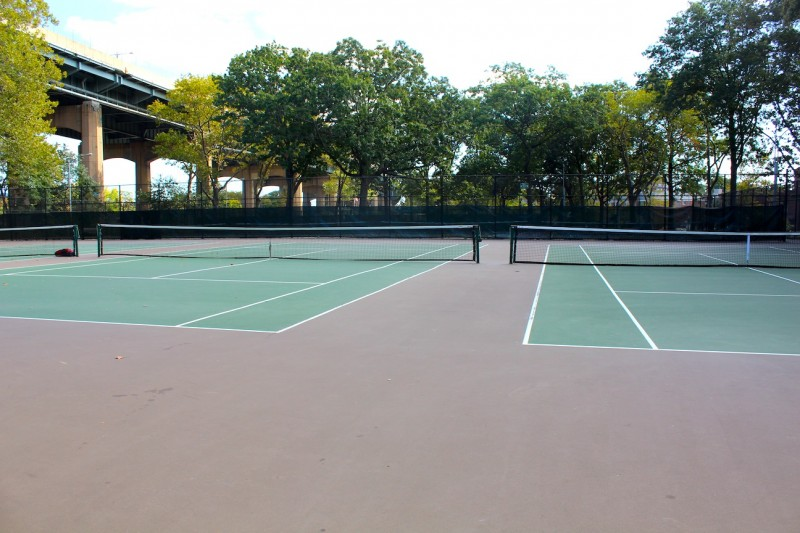 Astoria Park Tennis Courts. Photo by Kacey Herlihy.