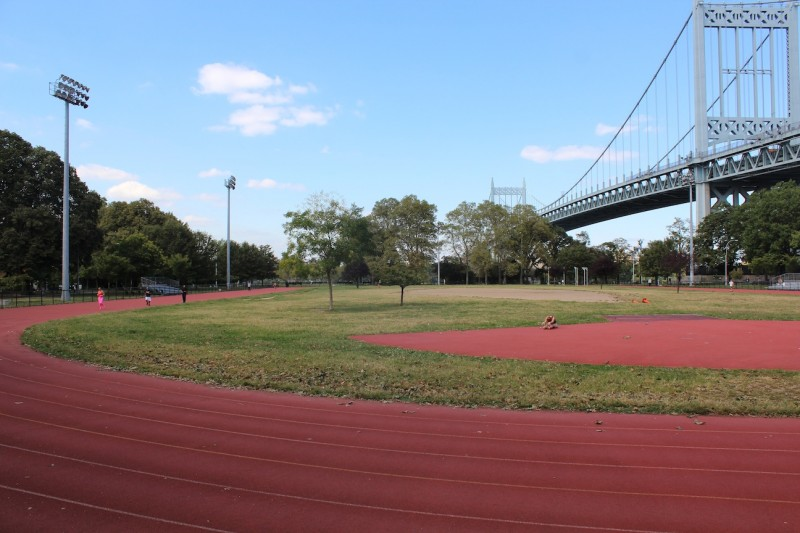 Astoria Park Track. Photo By Kacey Herlihy.