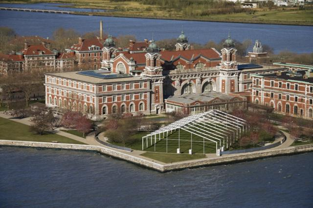 Aerial View of Ellis Island