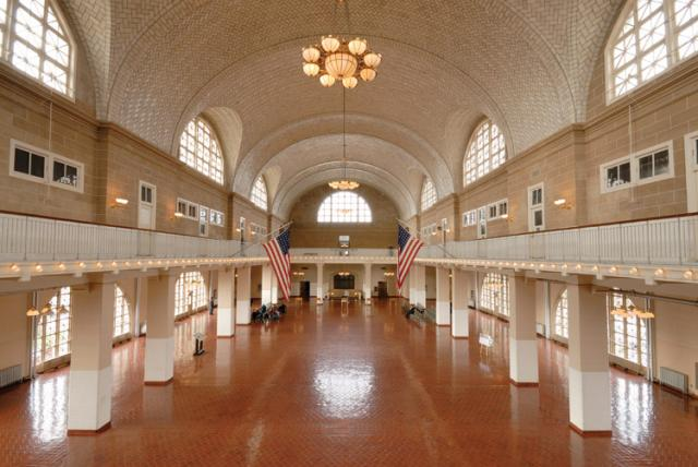 Interior of the great hall ellis island