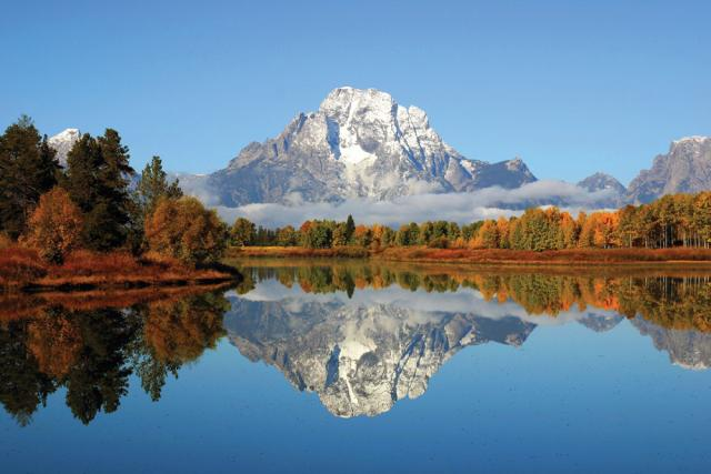 Mountain Reflection Grand Teton Oh Ranger