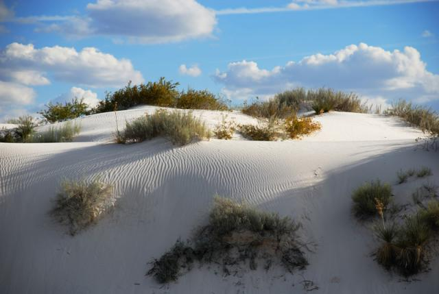 White Sands, Dune With Clouds