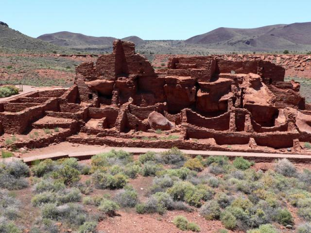 Wupatki Ruins With Vegetation