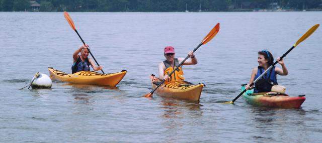 Branbury, kayakers