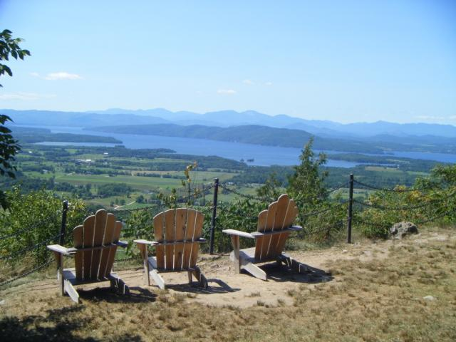 Mt Philo, chairs with a view