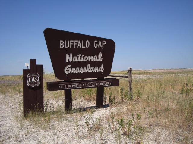 Passing through Buffalo Gap National Grassland
