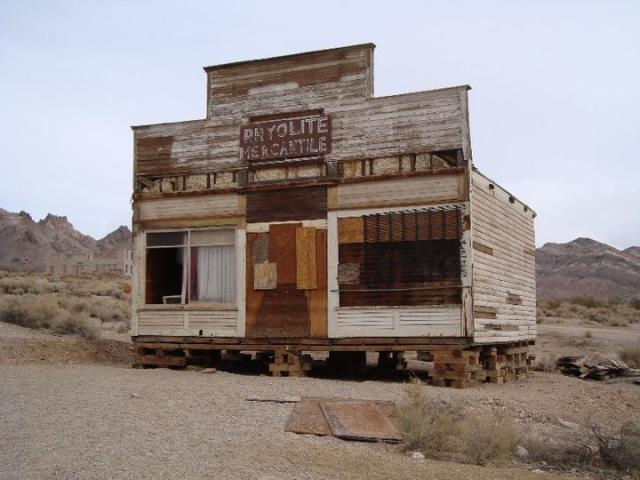 Mercantile at Rhyolite Ghost Down near Death Valley
