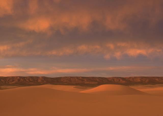 Passing storm at sunset over Killpecker Dunes