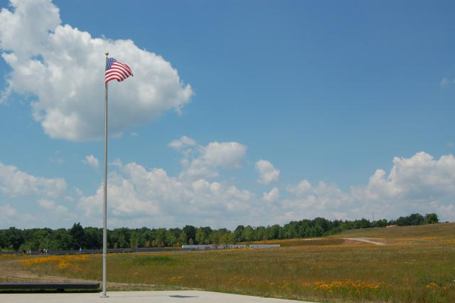 Flag Flying at Flight 93 National Memorial