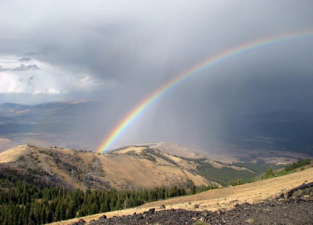 Rainbow from Top of Mount Washburn