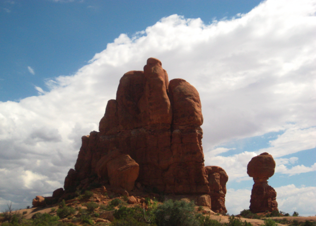 t-ball in arches national park