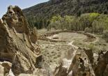 Bandelier : Tyuonyi Pueblo in Frijoles Canyon