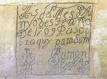 El Morro : 1709 Sandstone Inscription