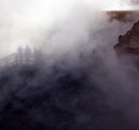 Yellowstone : shadows in the mist...