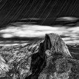 Yosemite : Star Trail over Half Dome