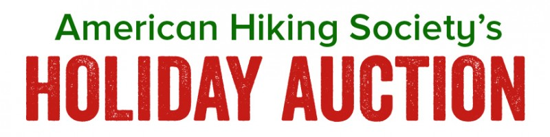 American Hiking Society's Holiday Auction on Ebay