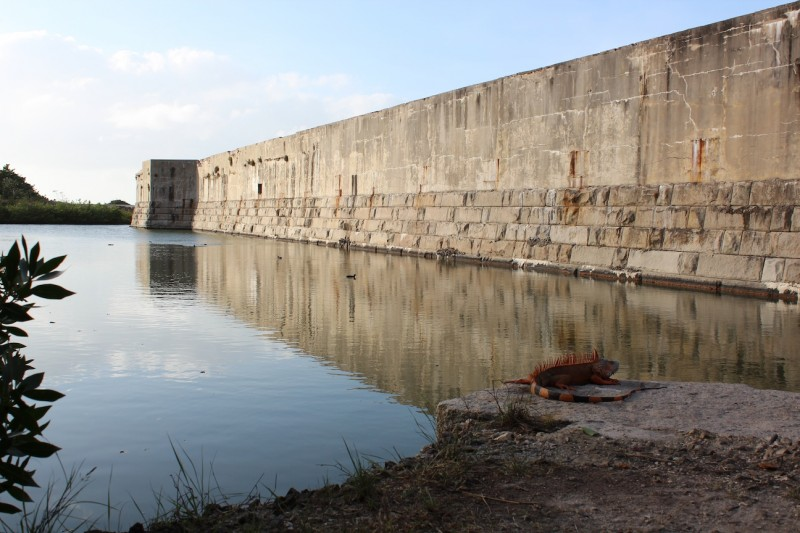 Fort Zachary Taylor exterior and moat.