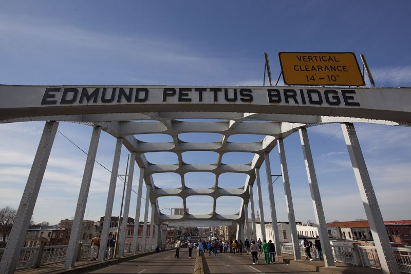 "The Edmund Pettus Bridge, site of ""Bloody Sunday"" is among the new sites receiving the designation."