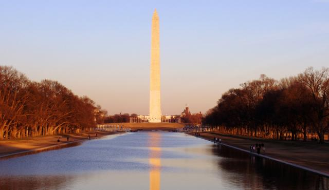 Washington Monument Fall with Reflections