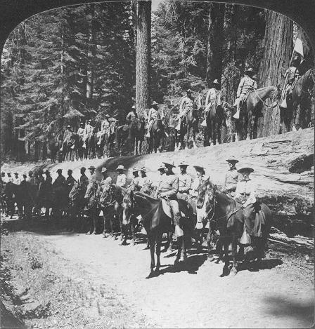 Buffalo Soldiers in Mariposa Grove